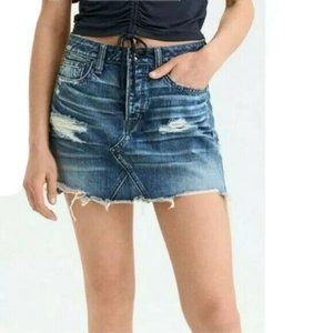 American Eagle Outfitters Distressed Denim Skirt